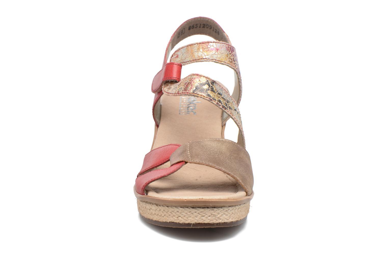 Sandales et nu-pieds Rieker Ronja 67523 Rouge vue portées chaussures