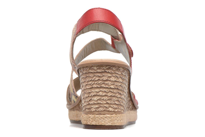 Sandales et nu-pieds Rieker Ronja 67523 Rouge vue droite