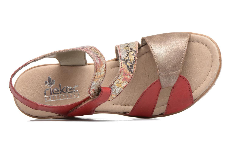 Sandales et nu-pieds Rieker Ronja 67523 Rouge vue gauche
