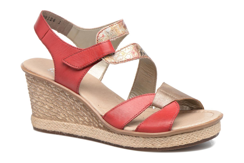 Sandales et nu-pieds Rieker Ronja 67523 Rouge vue détail/paire