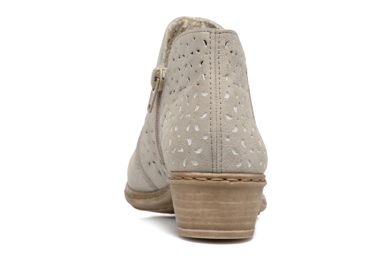 Bottines et boots Rieker Marla 0785 Gris vue droite