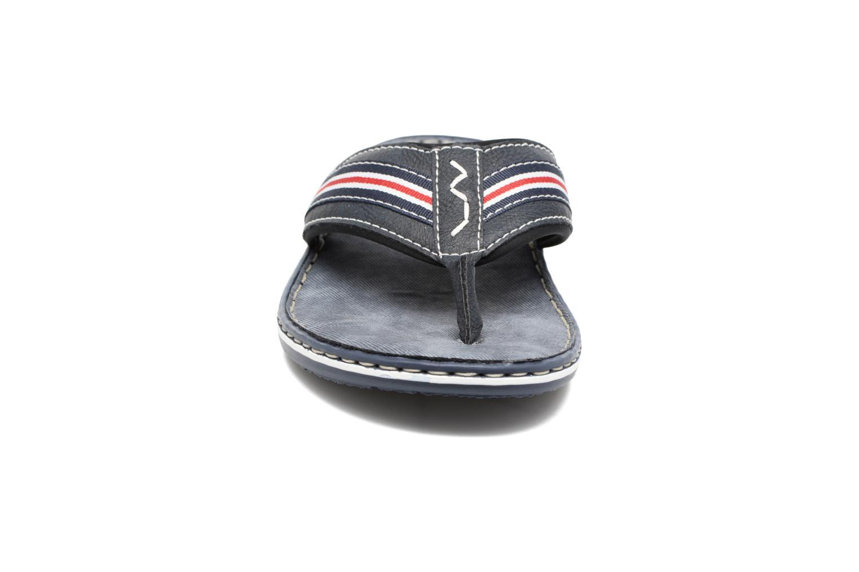 Tongs Rieker Clemens 21081 Bleu vue portées chaussures