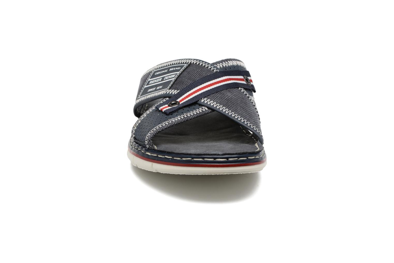 Sandales et nu-pieds Rieker Arjen 25163 Bleu vue portées chaussures