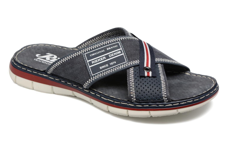 Sandales et nu-pieds Rieker Arjen 25163 Bleu vue détail/paire