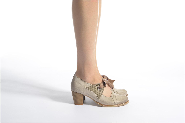 High heels Dkode Valeria Beige view from underneath / model view