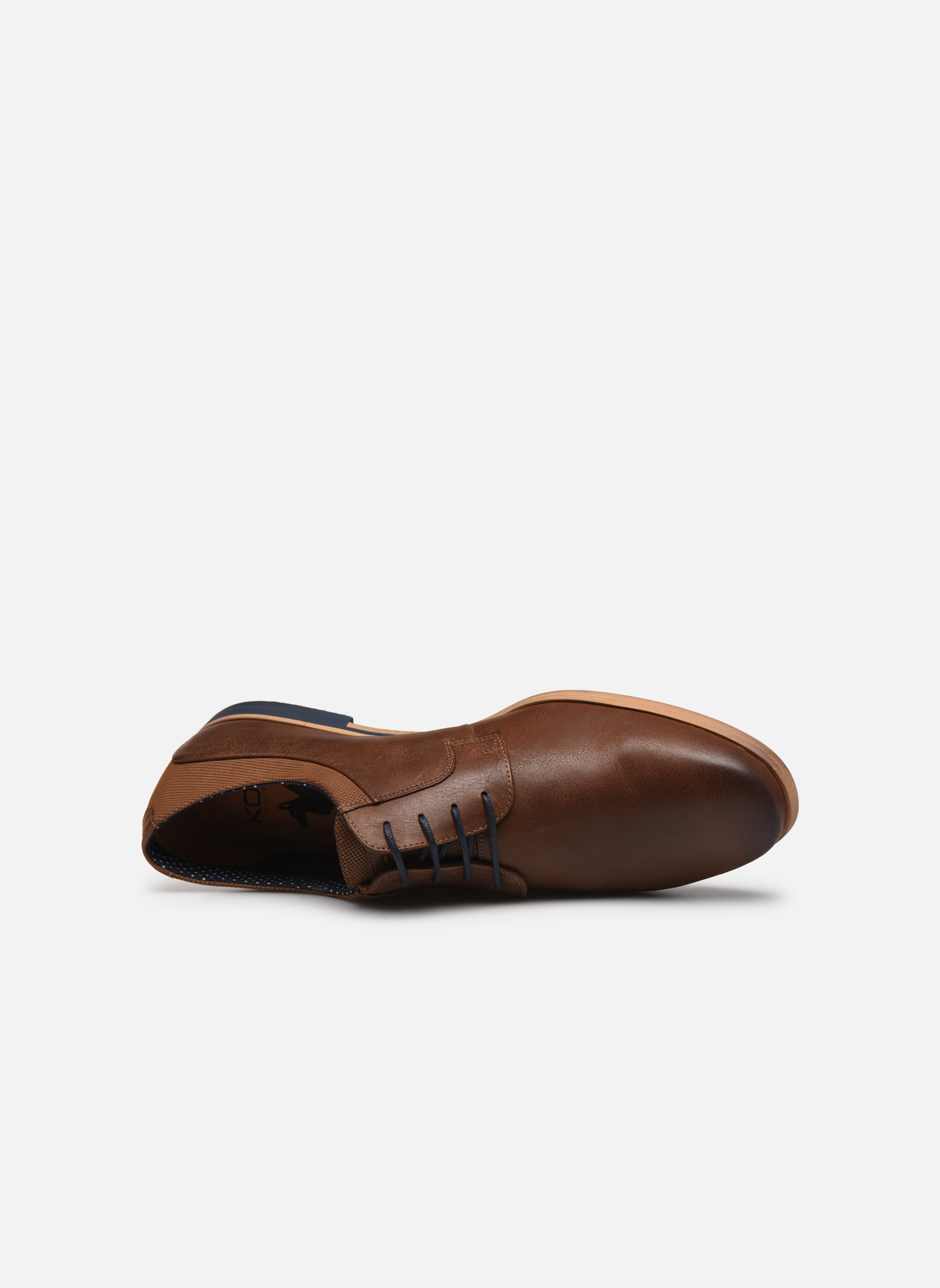 Lace-up shoes Kost Epia3 Brown view from the left