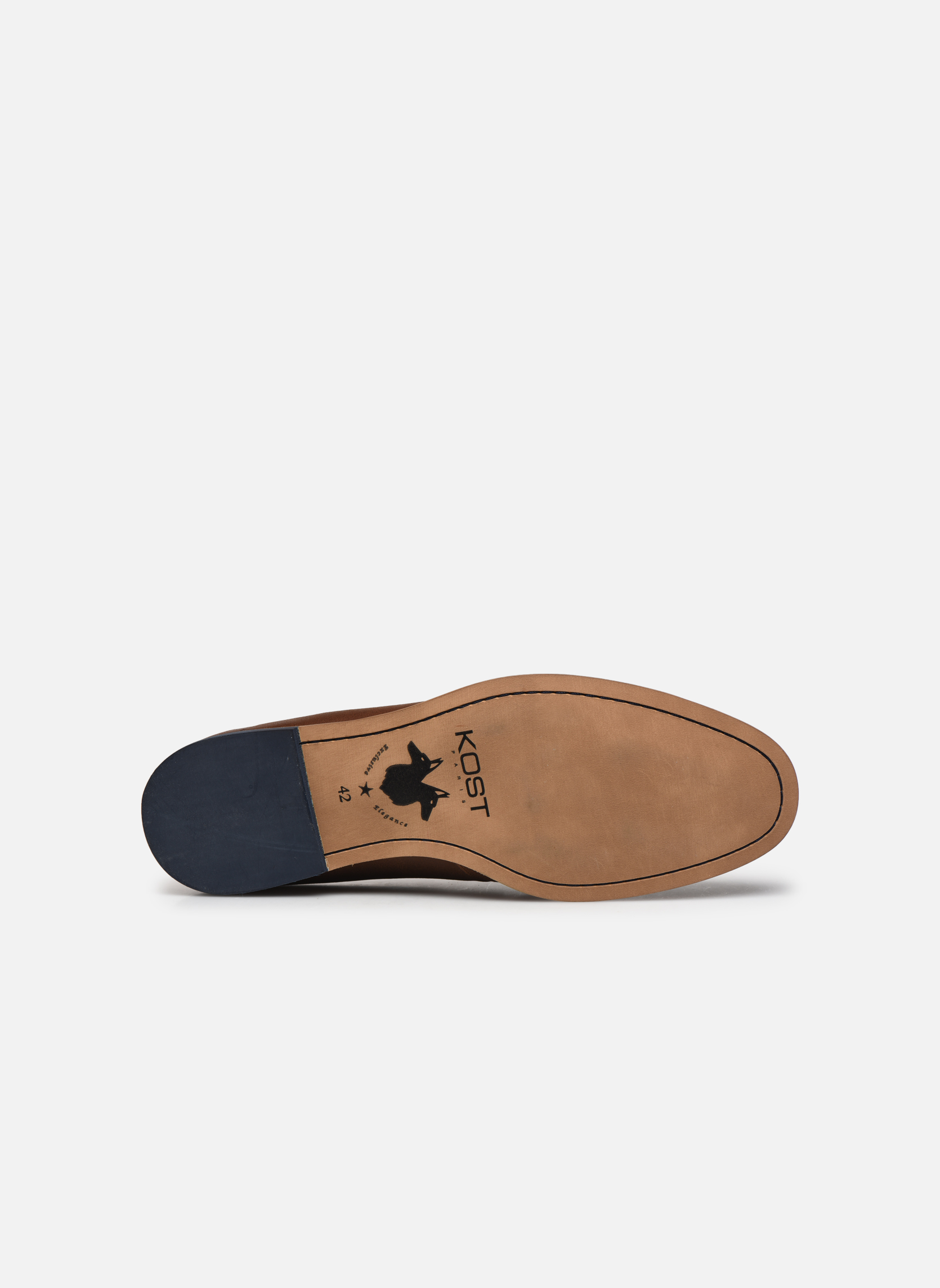 Lace-up shoes Kost Epia3 Brown view from above
