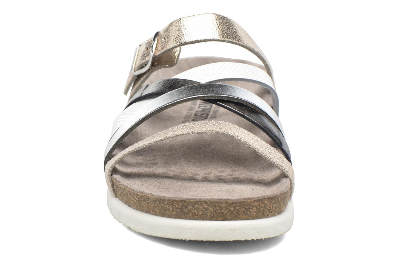 Mules et sabots Mephisto Huleda Argent vue portées chaussures