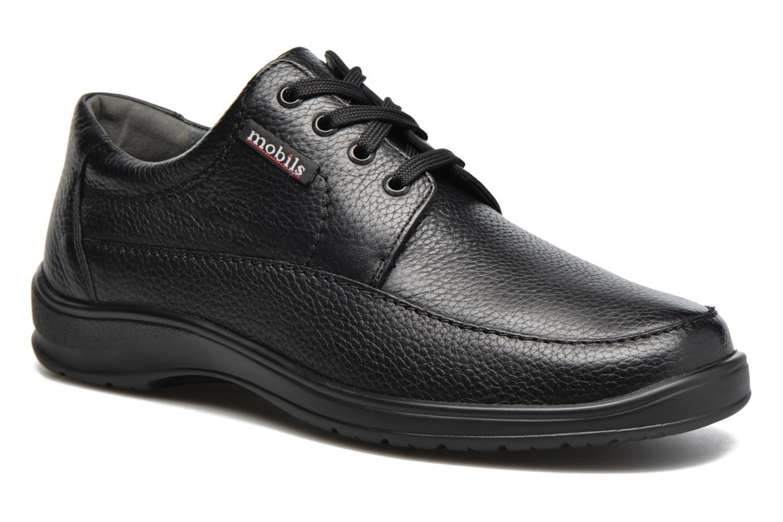 Chaussures à lacets Mephisto Ezard Noir vue détail/paire