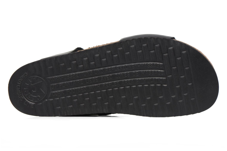 Sandales et nu-pieds Mephisto Nadeo Noir vue haut