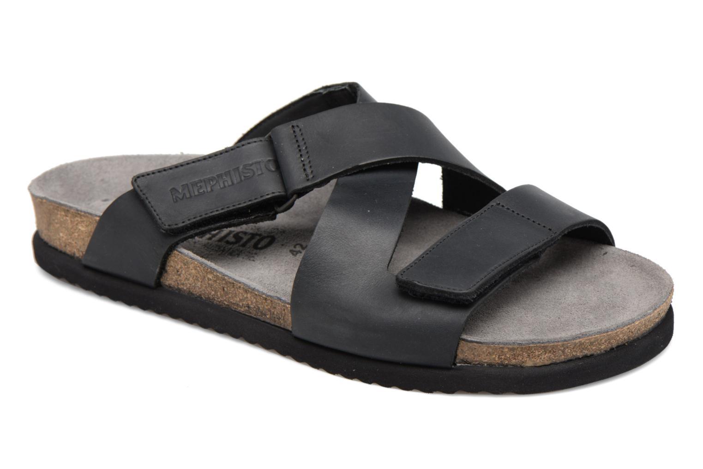 Sandales et nu-pieds Mephisto Nadeo Noir vue détail/paire