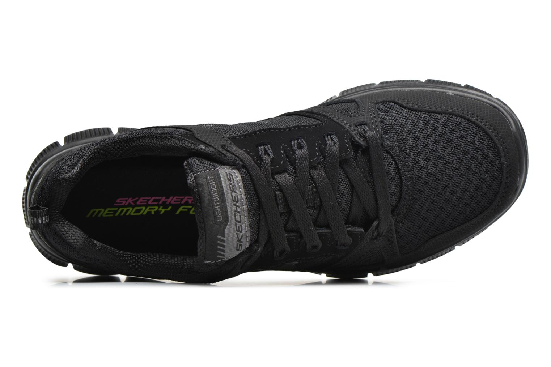 Sportssko Skechers Flex Appeal Adaptable Sort se fra venstre
