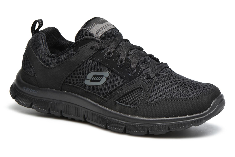 Sportssko Skechers Flex Appeal Adaptable Sort detaljeret billede af skoene