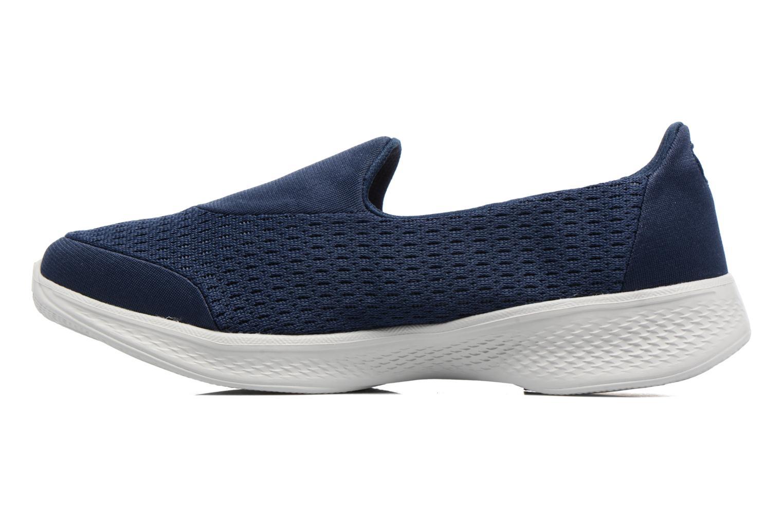 Sneakers Skechers GO Walk 4 Pursuit Blå se forfra