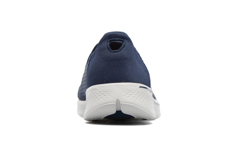 Baskets Skechers GO Walk 4 Pursuit Bleu vue droite