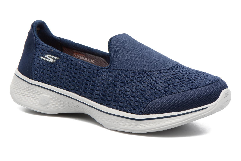 Baskets Skechers GO Walk 4 Pursuit Bleu vue détail/paire