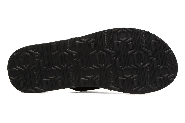 Zehensandalen Skechers Meditation Chill Vibes schwarz ansicht von oben