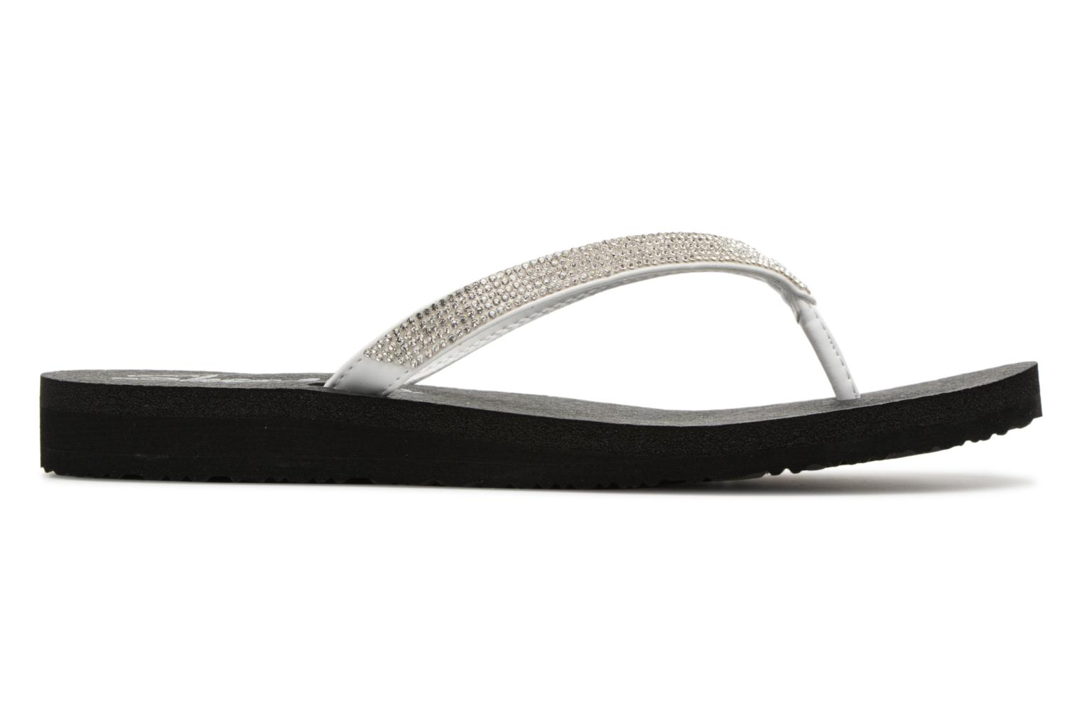 Tongs Skechers Meditation Chill Vibes Blanc vue derrière