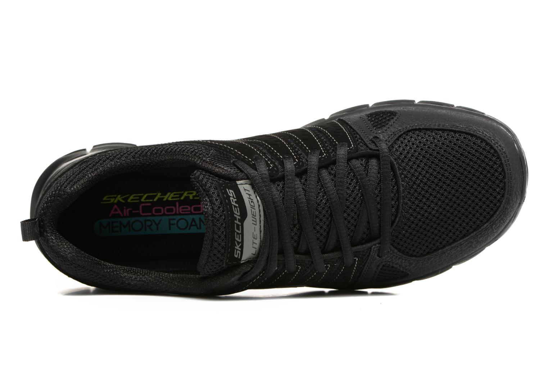 Sneaker Skechers Synergy Look Book schwarz ansicht von links