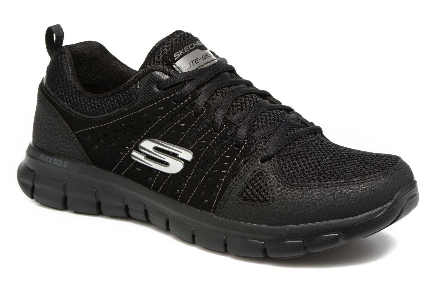 Trainers Skechers Synergy Look Book Black detailed view/ Pair view