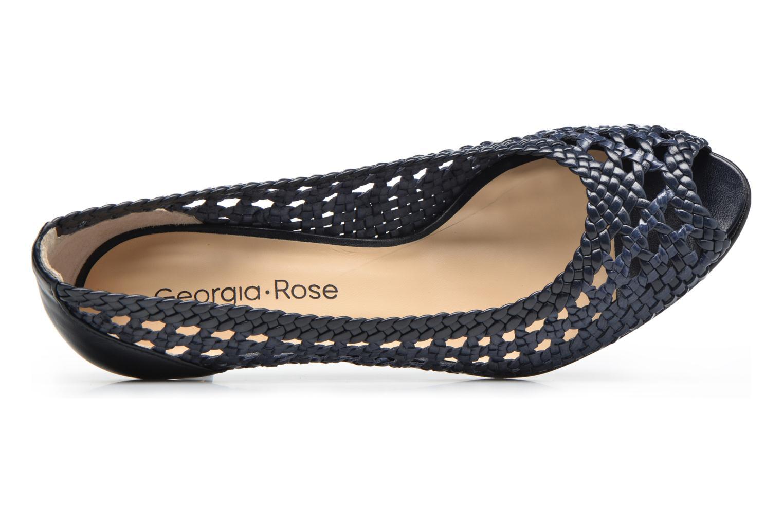 Zapatos de tacón Georgia Rose Tressa Azul vista lateral izquierda