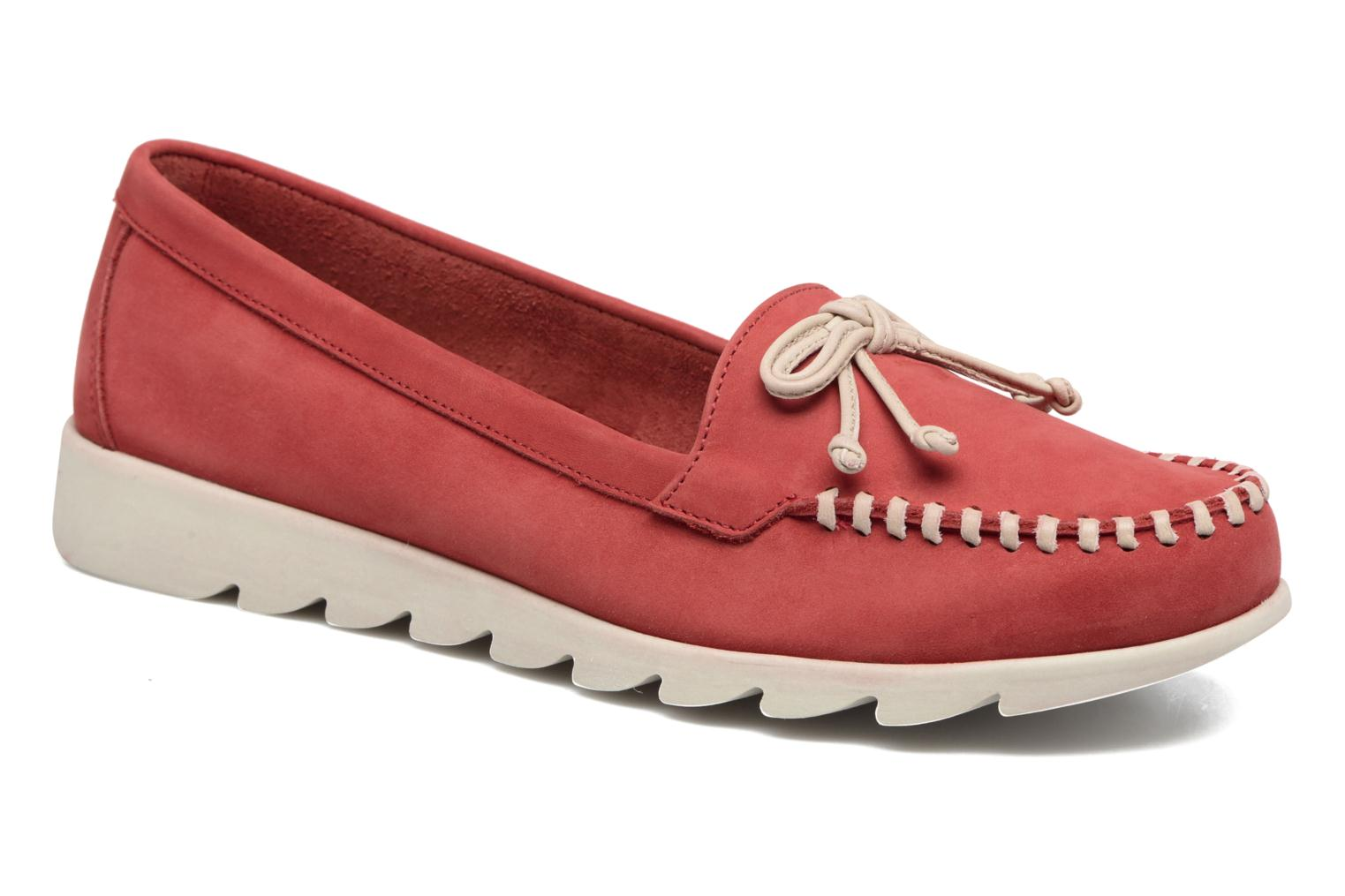 Loafers The Flexx Indy Track Red detailed view/ Pair view