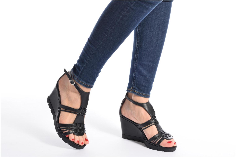 Sandales et nu-pieds The Flexx Lotus Noir vue bas / vue portée sac