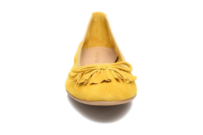 Ballerines Georgia Rose Lafrange Jaune vue portées chaussures
