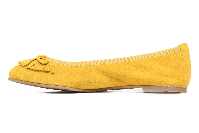 Ballerinas Georgia Rose Lafrange gelb ansicht von vorne