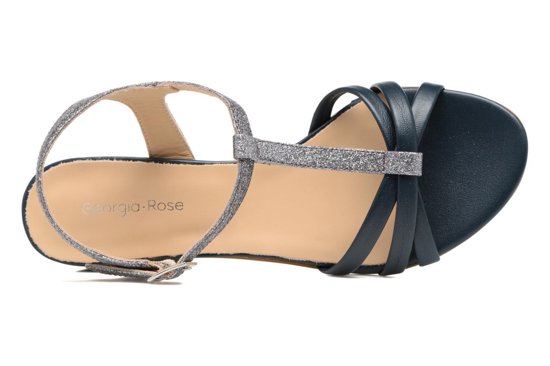 Sandales et nu-pieds Georgia Rose Lumitre Bleu vue gauche