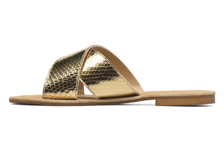Dorice mule Cuir Python gold