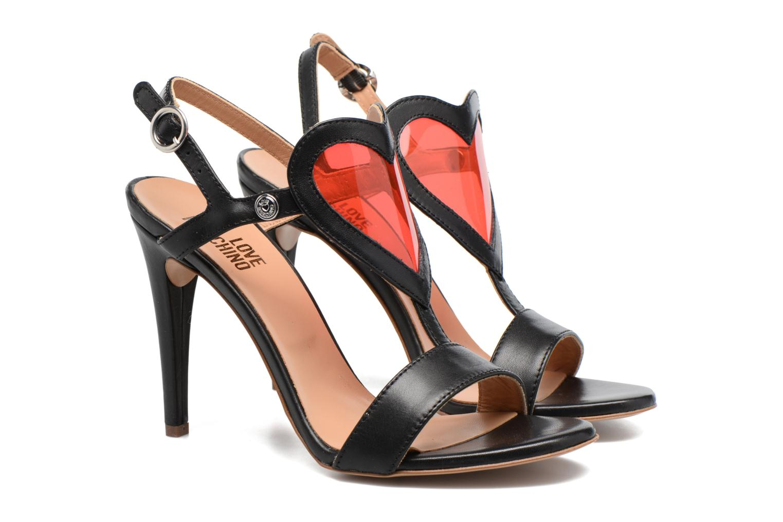 Sandales et nu-pieds Love Moschino Amorino Noir vue 3/4