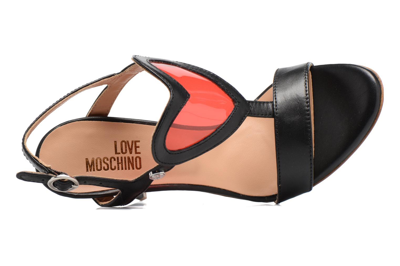 Sandales et nu-pieds Love Moschino Amorino Noir vue gauche