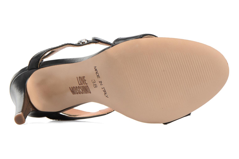 Sandales et nu-pieds Love Moschino Amorino Noir vue haut