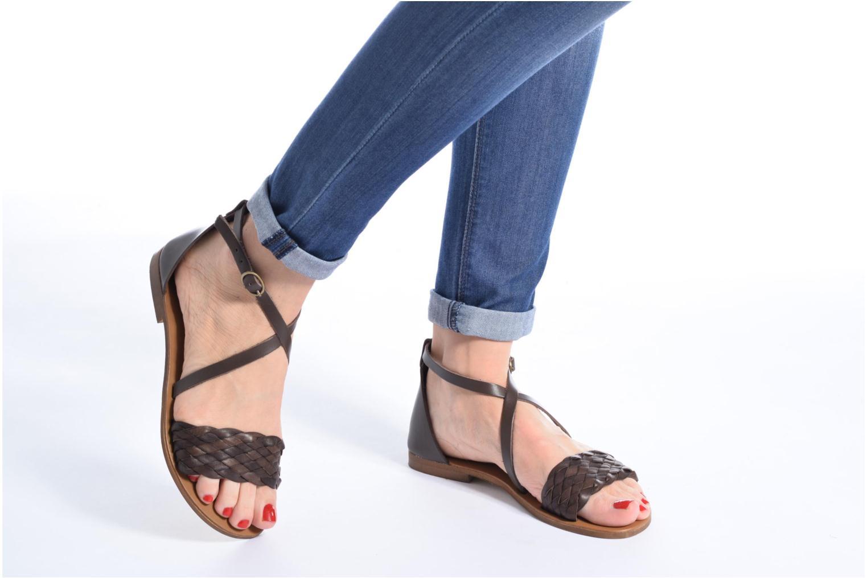 Sandales et nu-pieds Georgia Rose Dotresse Or et bronze vue bas / vue portée sac