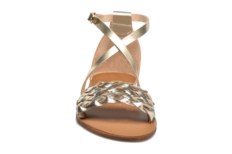 Sandales et nu-pieds Georgia Rose Dotresse Or et bronze vue portées chaussures