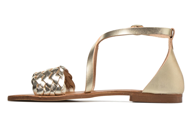 Sandales et nu-pieds Georgia Rose Dotresse Or et bronze vue face
