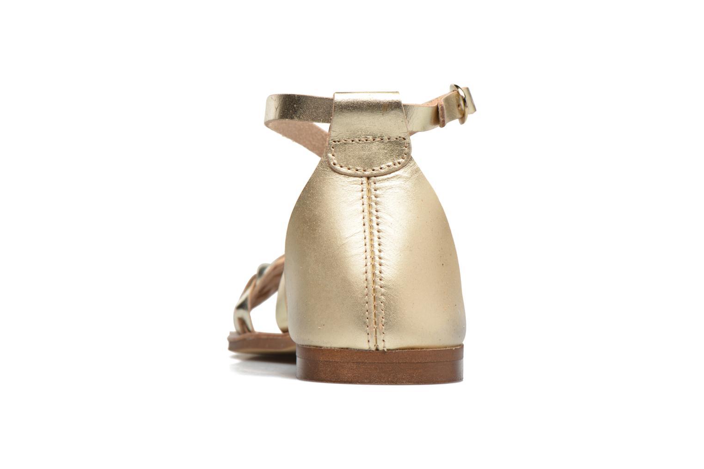 Sandales et nu-pieds Georgia Rose Dotresse Or et bronze vue droite