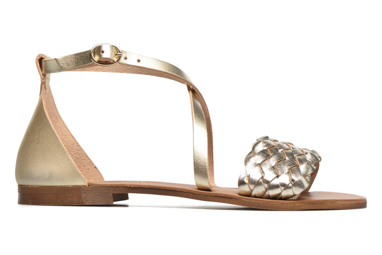 Sandales et nu-pieds Georgia Rose Dotresse Or et bronze vue derrière