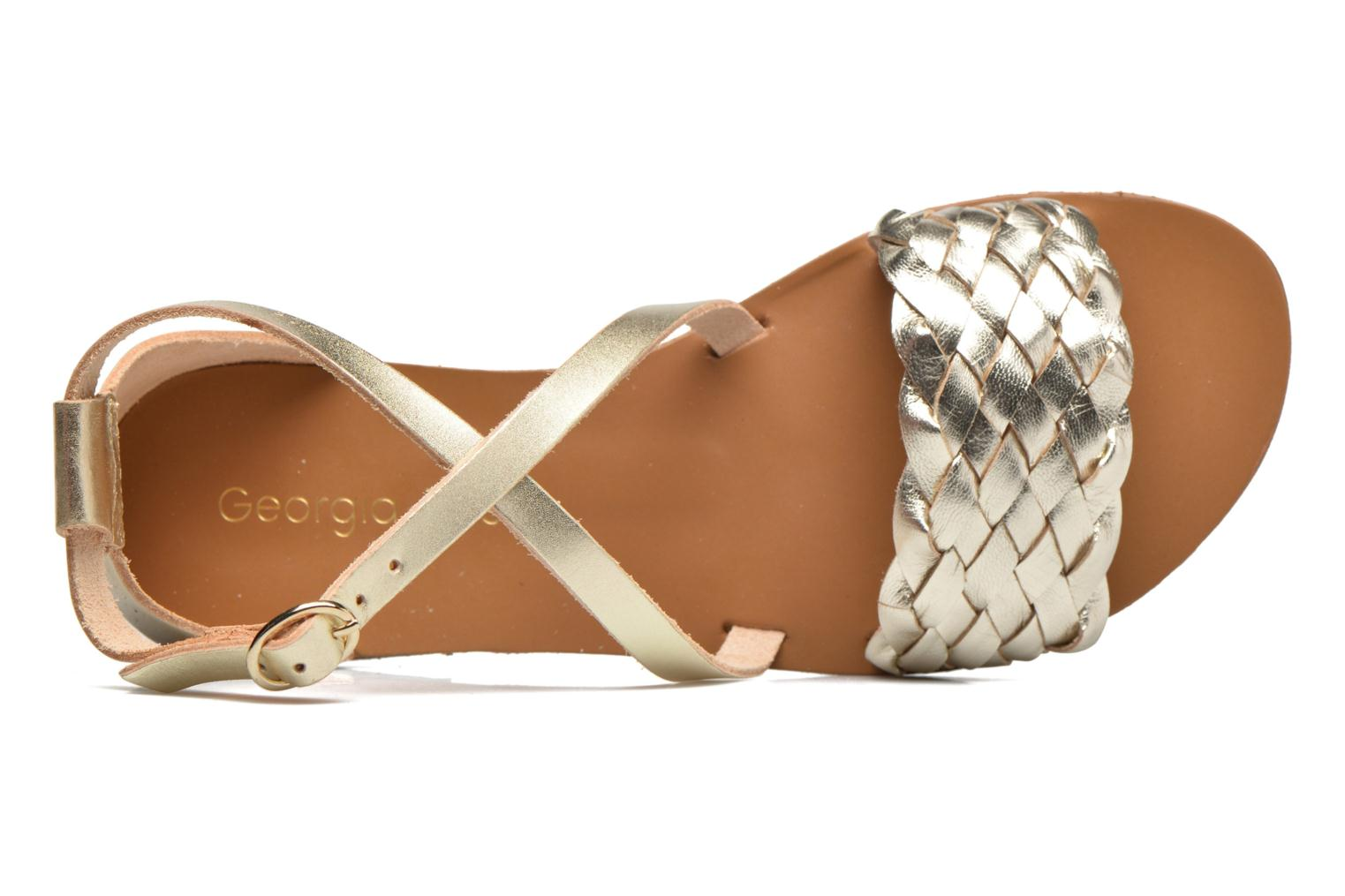 Sandals Georgia Rose Dotresse Bronze and Gold view from the left