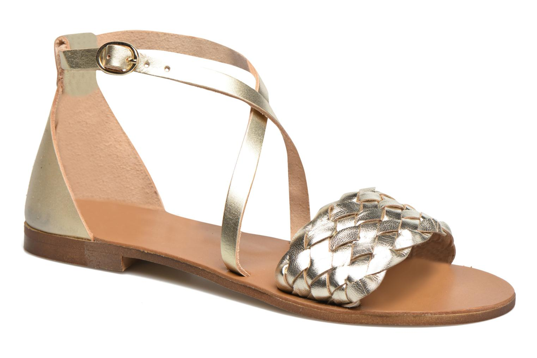 Sandales et nu-pieds Georgia Rose Dotresse Or et bronze vue détail/paire