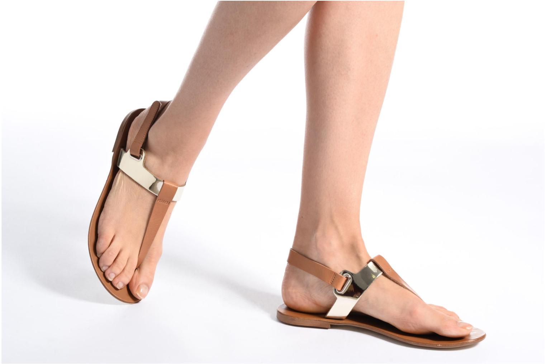 Sandales et nu-pieds Georgia Rose Documo Noir vue bas / vue portée sac