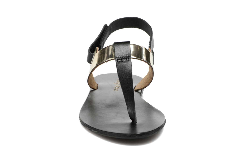 Sandales et nu-pieds Georgia Rose Documo Noir vue portées chaussures