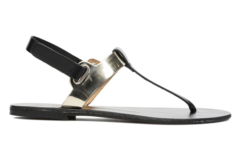 Sandales et nu-pieds Georgia Rose Documo Noir vue derrière