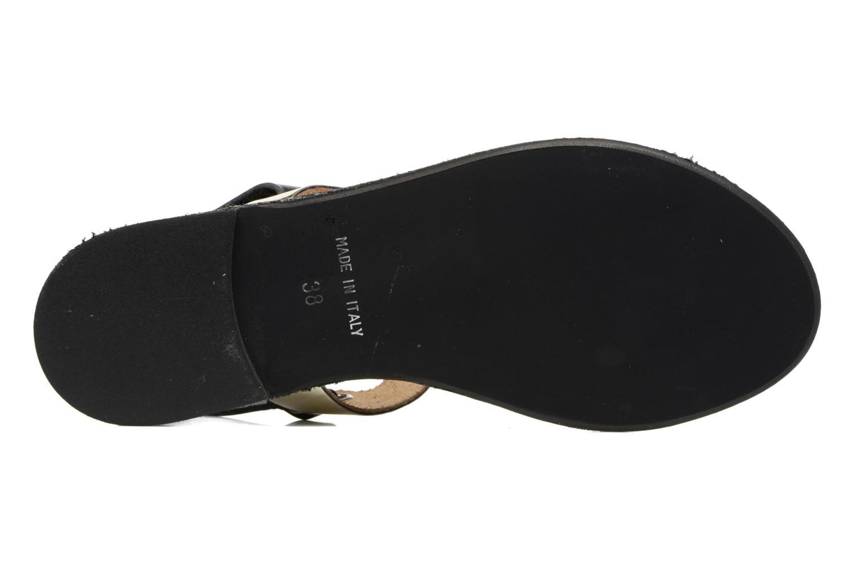 Sandales et nu-pieds Georgia Rose Documo Noir vue haut