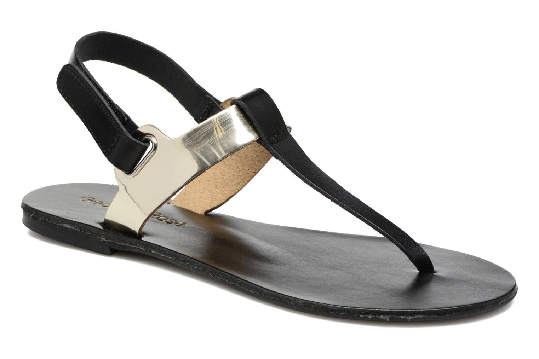 Sandaler Georgia Rose Documo Sort detaljeret billede af skoene