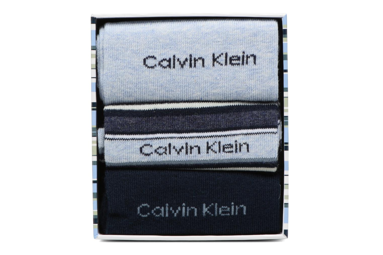 Socks & tights Calvin Klein Chaussettes MUTI STRIPE GIFT BOX Pack de 3 Coton Blue model view