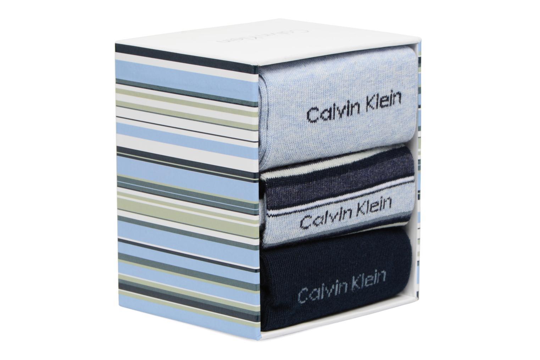 Chaussettes MUTI STRIPE GIFT BOX Pack de 3 Coton 97 Pale Denim Navy