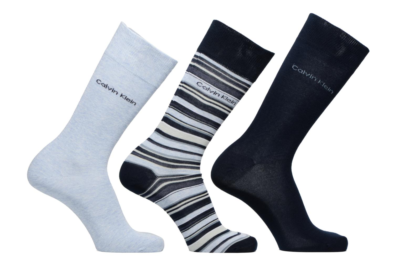 Socks & tights Calvin Klein Chaussettes MUTI STRIPE GIFT BOX Pack de 3 Coton Blue detailed view/ Pair view