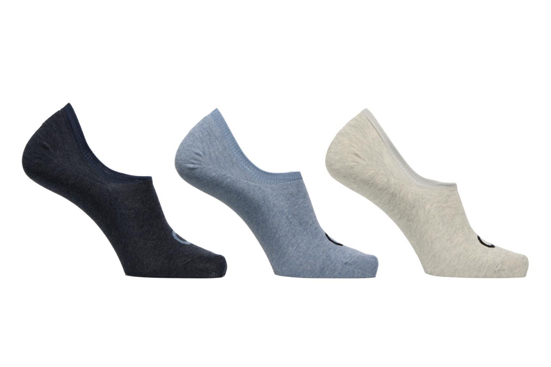 Lot de 3 paires de Chaussettes Invisibles Logo Ck D68 Stonewash Pale Grey Denim